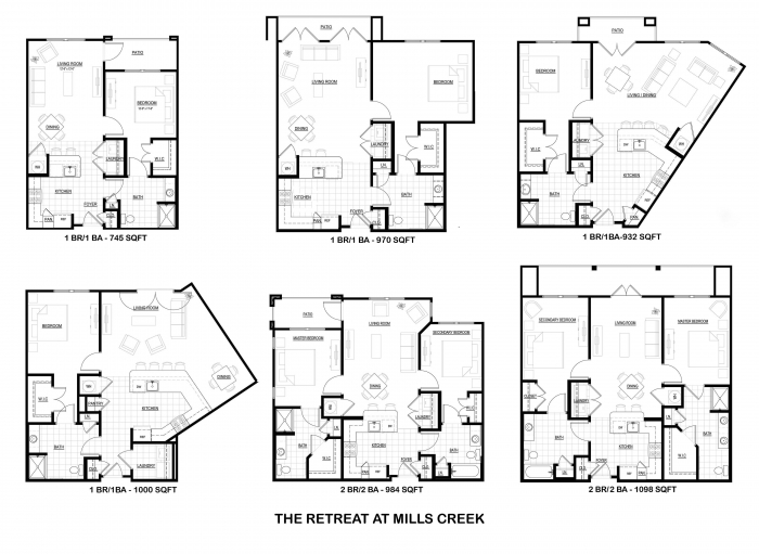 Retreat at mills creek housing development corporation for The retreat floor plans